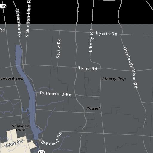 Dublin Ohio USA Dublin Boundary Map - Ohio River On Us Map